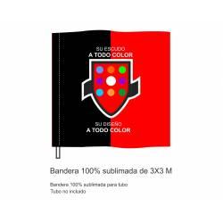 Bandera Sublimada Tubo 3x3 m.