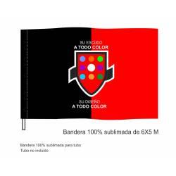 Bandera Sublimada Tubo 6x5 m.